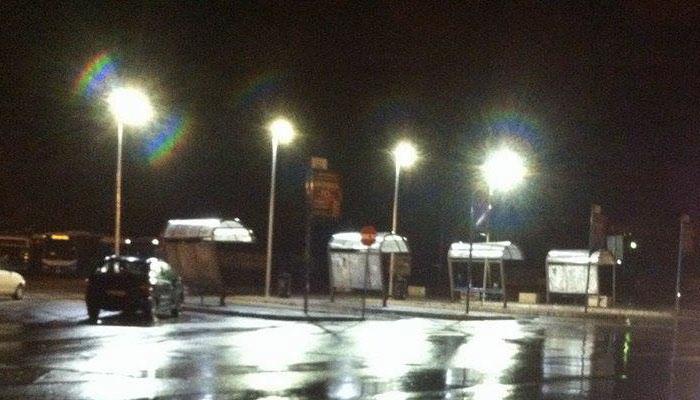 Capolinea del Cotral nuovi lampioni