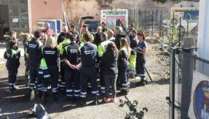 Danni a Tivoli per il terremoto, briefing della Protezione Civile