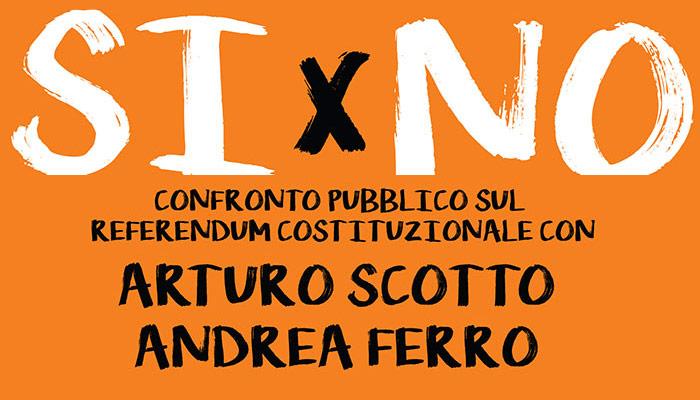 Referendum Si o No, confronto pubblico tra i due comitati
