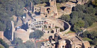 Foto aerea del sito Unesco di Villa Adriana