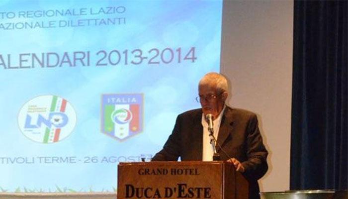 Rinnovo delle cariche del calcio regionale, il presidente Melchiorre Zarelli
