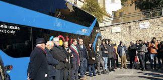 Nuovi autobus per Subiaco, la presentazione con Zingaretti e Pelliccia