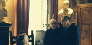 Gérard Depardieu a Tivoli insieme a Lamerto Bava e l'assessore Urbano Barberini