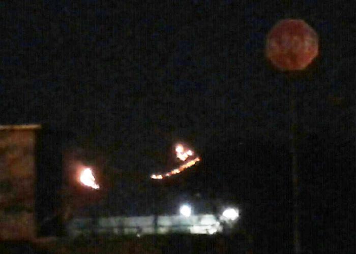 Incendio sopra Tivoli