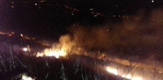 Incendi a Tivoli, fiamme a Pomata