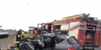 Incidente autostradale a Guidonia