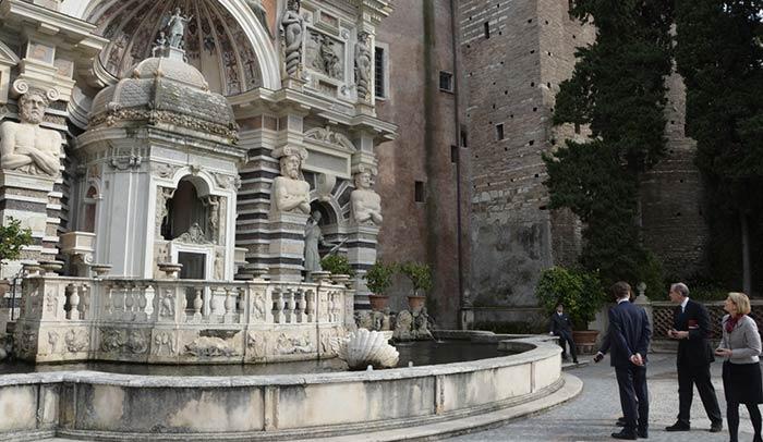 Natale di Tivoli, turisti a Villa d'Este