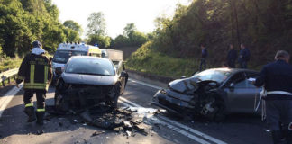 Incidente autostrada Tivoli, casello di Villa Adriana