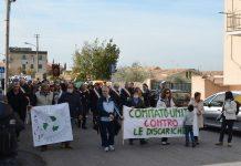 Discarica vicino a Villa Adriana, una delle manifestazione a Tivoli