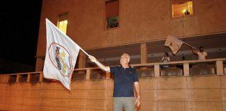 5 Stelle a Guidonia Montecelio, la festa sotto al Municipio. Foto Michel Barbet Candidato Portavoce Sindaco M5S Guidonia Montecelio