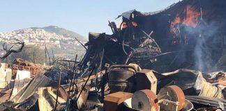 Incendi a Tivoli e Guidonia, il rogo a Collenocello. Foto Gos Tivoli