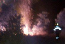 Incendio al ponte della Pace e tra Guidonia e Montecelio, foto Nvg
