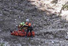 Incidente sui Monti Simbruini, l'intervento del Cnsas