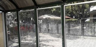 Pensilina pulita a piazza Garibaldi