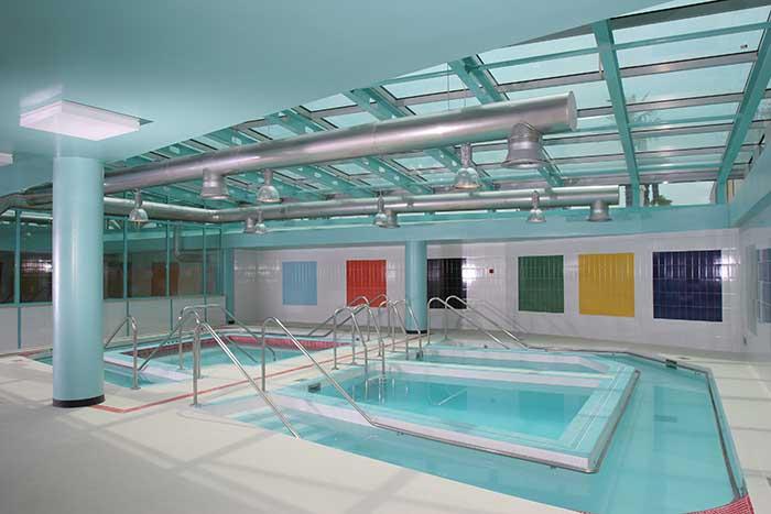 La piscina della Spa delle terme Acque Albule