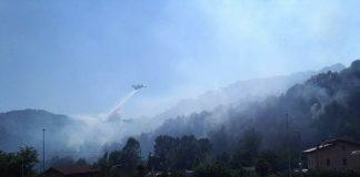 Domenica di fuoco, l'incendio a Subiaco