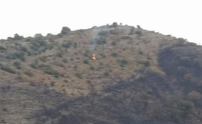 Incendio su Monte Catillo, foto Facebook Antonella Doddi