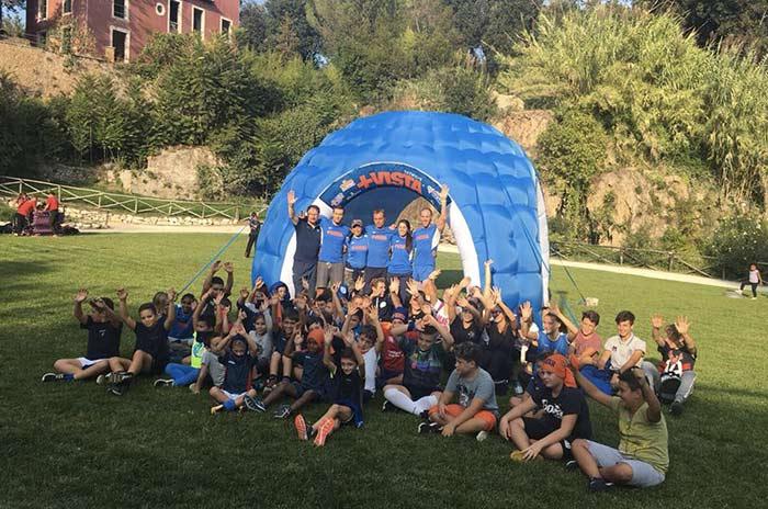 I bambini della Tivoli Rugby al parco di +Vista