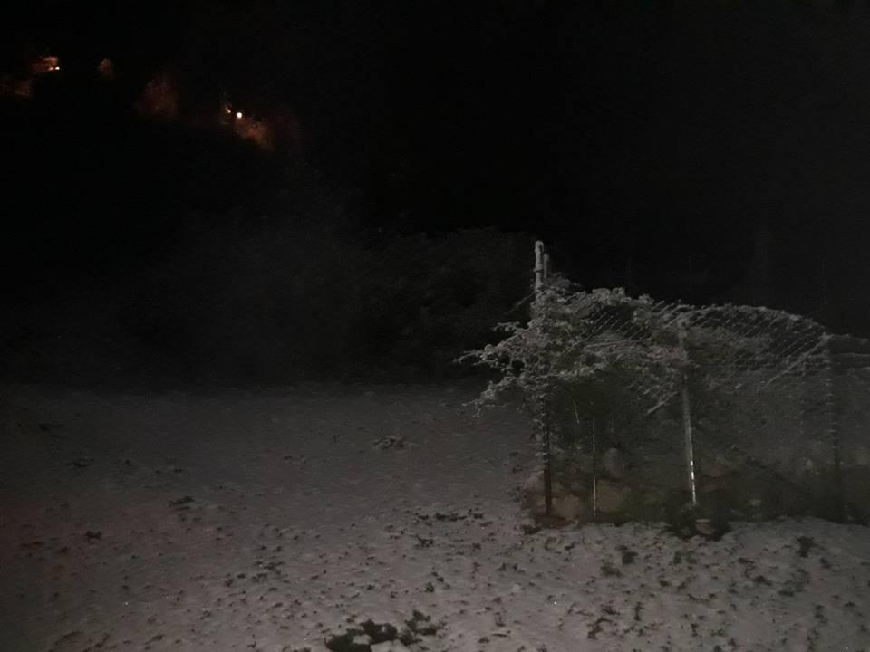Neve a Monte Guadagnolo, foto protezione civile Monti Prenestini