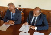 Il Sindaco Michel Barbet con il vice sindaco Davide Russo