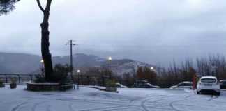 Neve su Monte Ripoli, ecco com'era il piazzale del Medicus