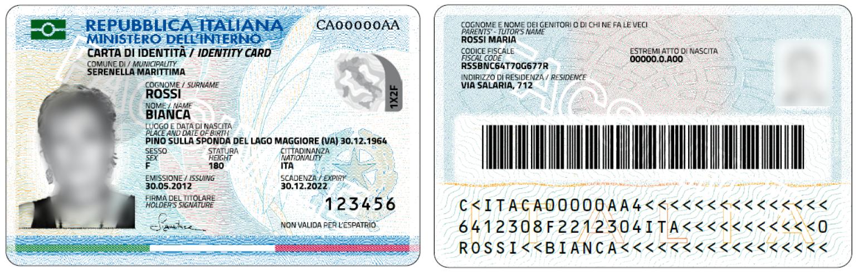 Nuova carta identità