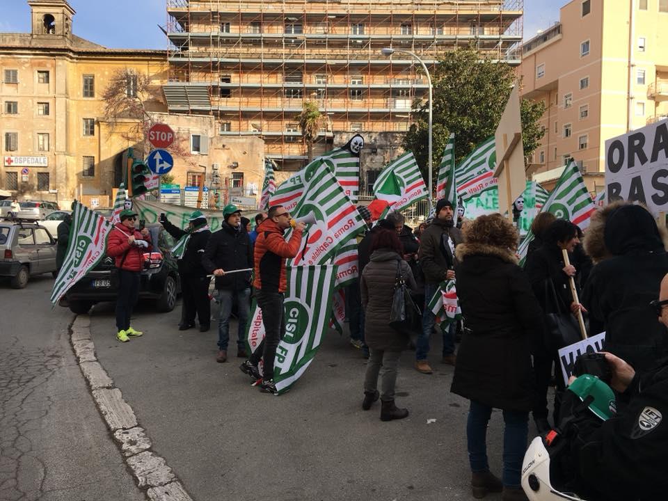 Protesta della Cisl FP Tivoli
