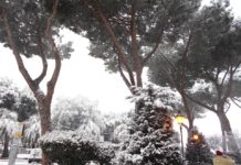 Tivoli coperta di neve