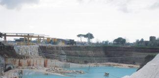 Una cava di travertino tra Guidonia Montecelio e Tivoli