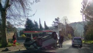 Incidente sulla Tiburtina, a Villa Adriana