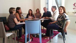 centro antiviolenza: (nella foto l'incontro tra gli amministratori e le operatrici di Differenza Donna, all'interno del Centro La Sibilla per l'avvio delle attività