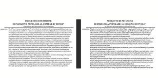 Le petizioni di Articolo 1 - Leu Tivoli