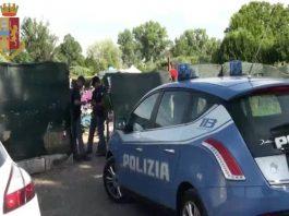Polizia, controlli negli insediamenti abusivi all'Albuccione di Guidonia Montecelio