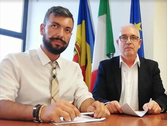 Michel Barbet, sindaco di Guidonia Montecelio, e Marco Colazza, ex assessore ai Lavori Pubblici