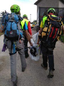 Il Soccorso Alpino impegnato in un insolito intervento di aiuto