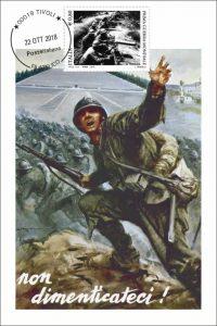 Folder postale annullo 100 anni dalla Grande Guerra