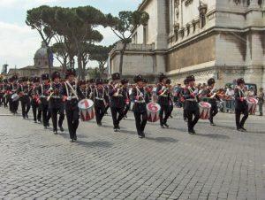 la banda musicale del 1° Reggimento Granatieri