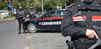 Un posto di controllo dei Carabinieri