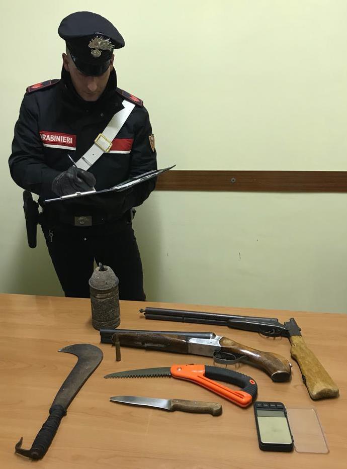 SUBIACO - Le armi sequestrate dai Carabinieri