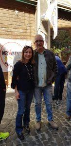 Rosa Saltarelli con Michel Barbet, sindaco 5Stelle di Guidonia Montecelio