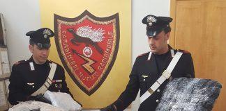 Parte della droga sequestrata durante le indagini dai carabinieri di Frascati