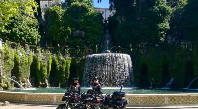 Carabinieri nel sito Unesco di Villa d'Este
