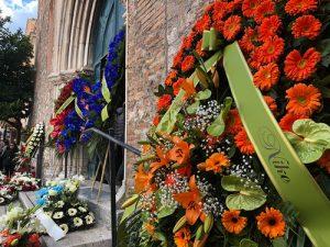 I funerali di Vincenzo Mancini, proprietario della catena Cisalfa