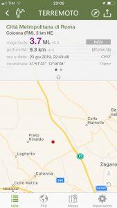 Terremoto tra Zagarolo e Colonna