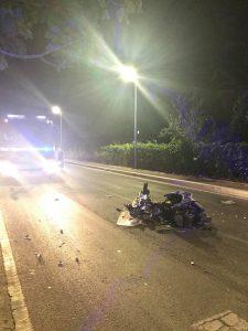 Auto travolte scooter, ubriaco e drogato il guidatore