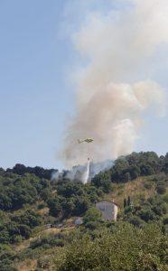 Elicottero su Monte Catillo