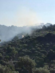 incendio monte catillo